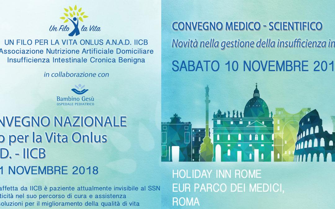 A novembre il IX Convegno di Un Filo per la Vita  – Corso ECM