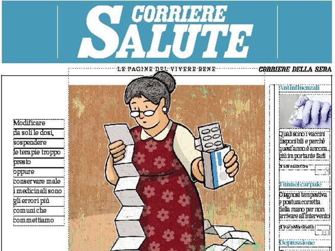 Sul Corriere Salute, gli errori da non fare con le medicine: le regole